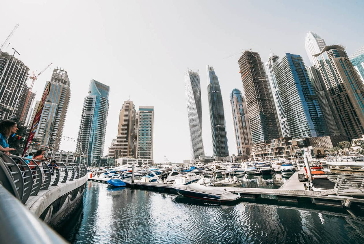 The Dubai Marina // A list of the top 10 things to do and places to visit in Dubai. From rooftop bars, to beaches, plus where to find the best views and more.