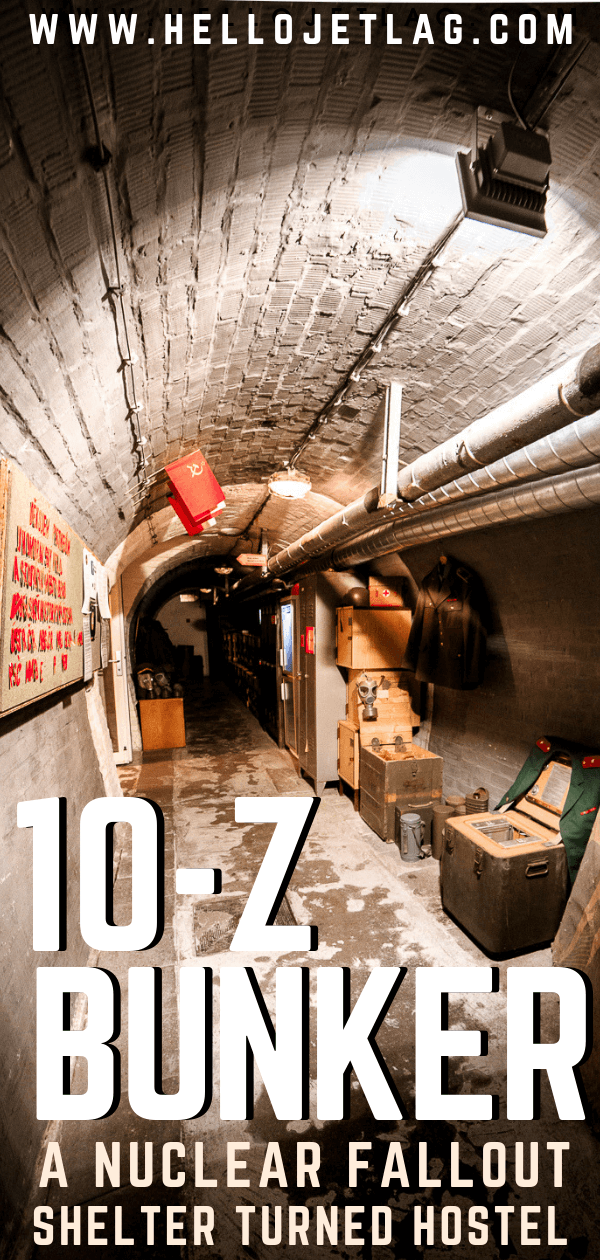 10-Z Bunker Hostel is a retired nuclear fallout shelter in Brno, Czech Republic. Tour the bunker, eat at the Soviet style Milk Bar and even spend the night! Keep reading for what to expect, photos and more..