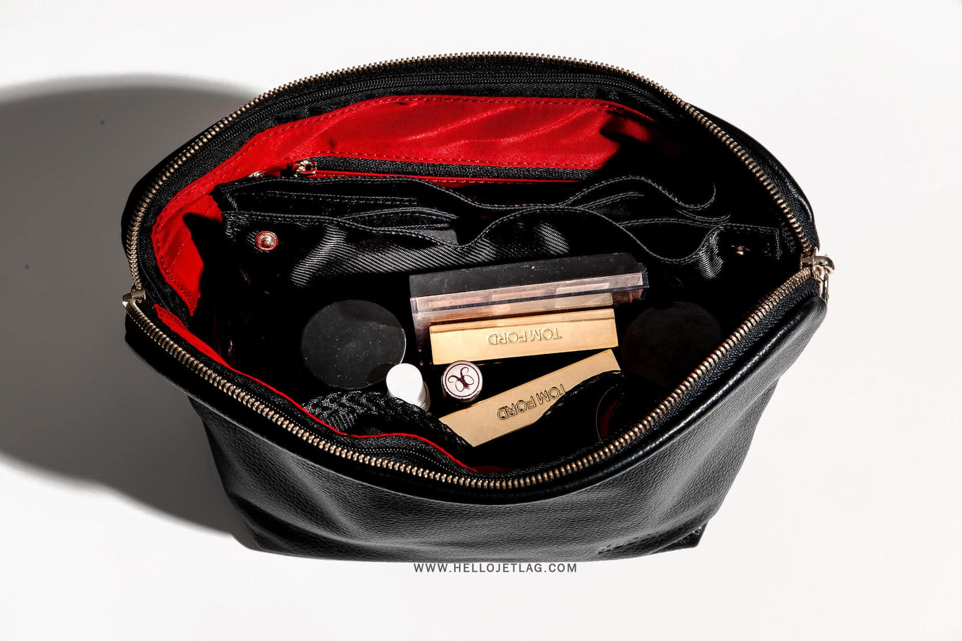 Kusshi Leather Makeup Bag