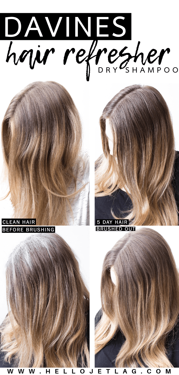 Before and After Davines Hair Refresher Dry Shampoo