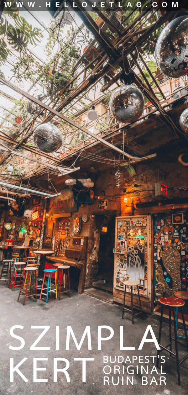Szimpla Kert is the original ruin bar in Budapest and it remains the most popular for a good reason. Keep reading for photos, tips for visiting and how to get there.