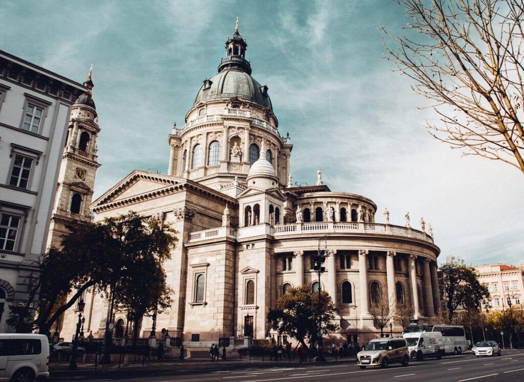 Exterior of St. Steven's Basilica in Budapest