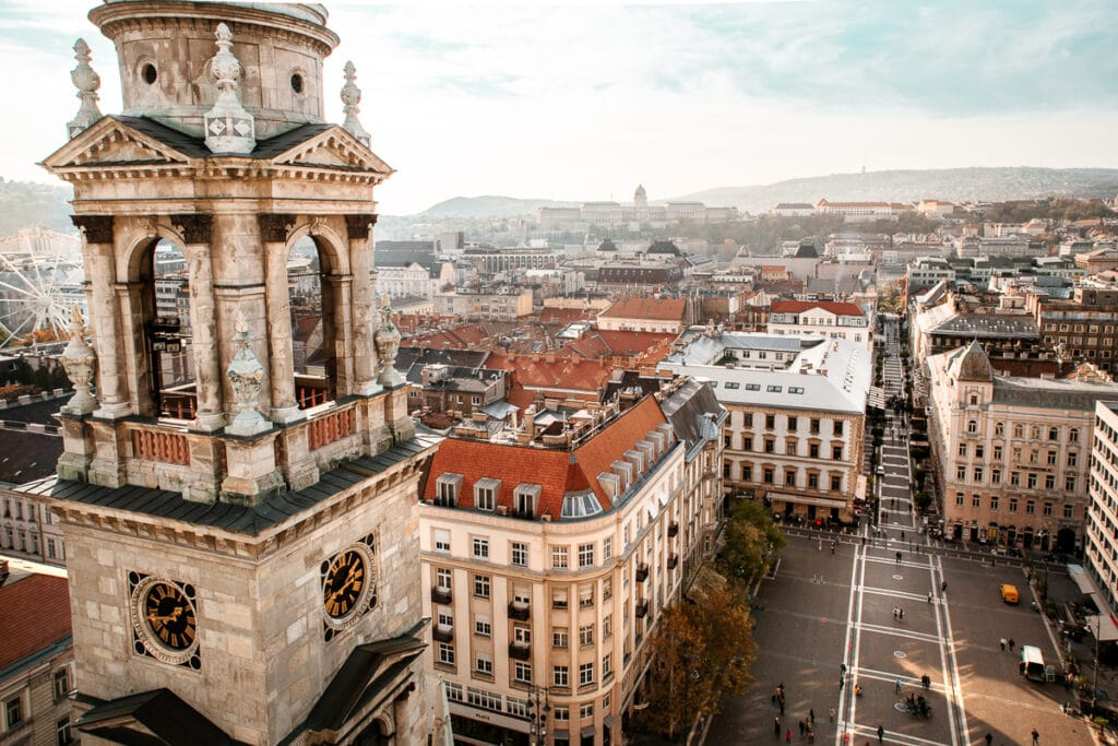 View from the top of St. Steven's in Budapest