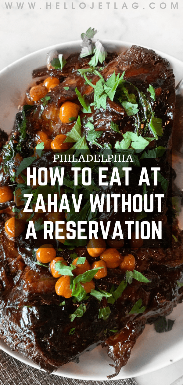 How to eat at Zahav without a reservation