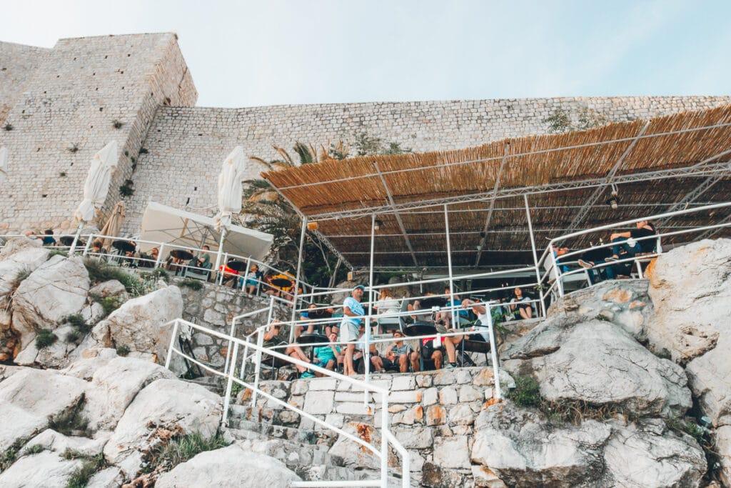 Cliff bar in Dubrovnik, Croatia
