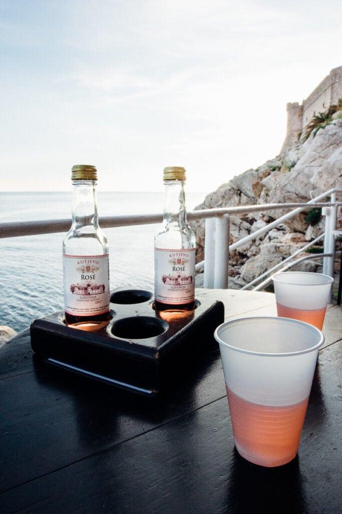 Drinks at Buza Bar, Dubrovnik