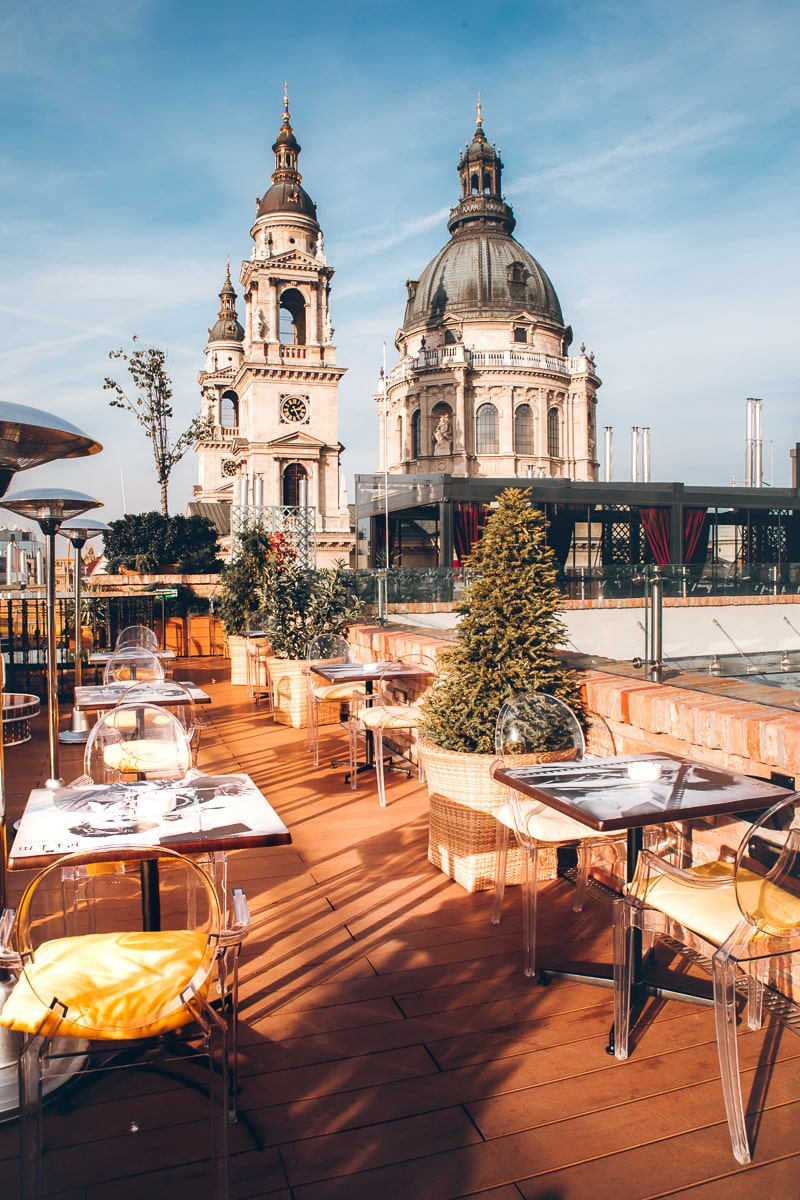Aria Hotel High Note Sky Bar in Budapest