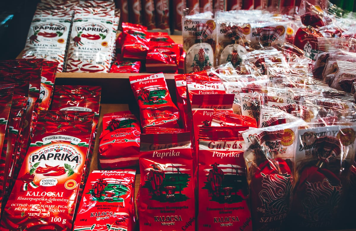 Paprika Souvenirs at the Budapest Great Market Hall