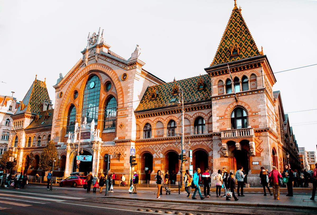 Exterior of the Budapest Great Market Hall