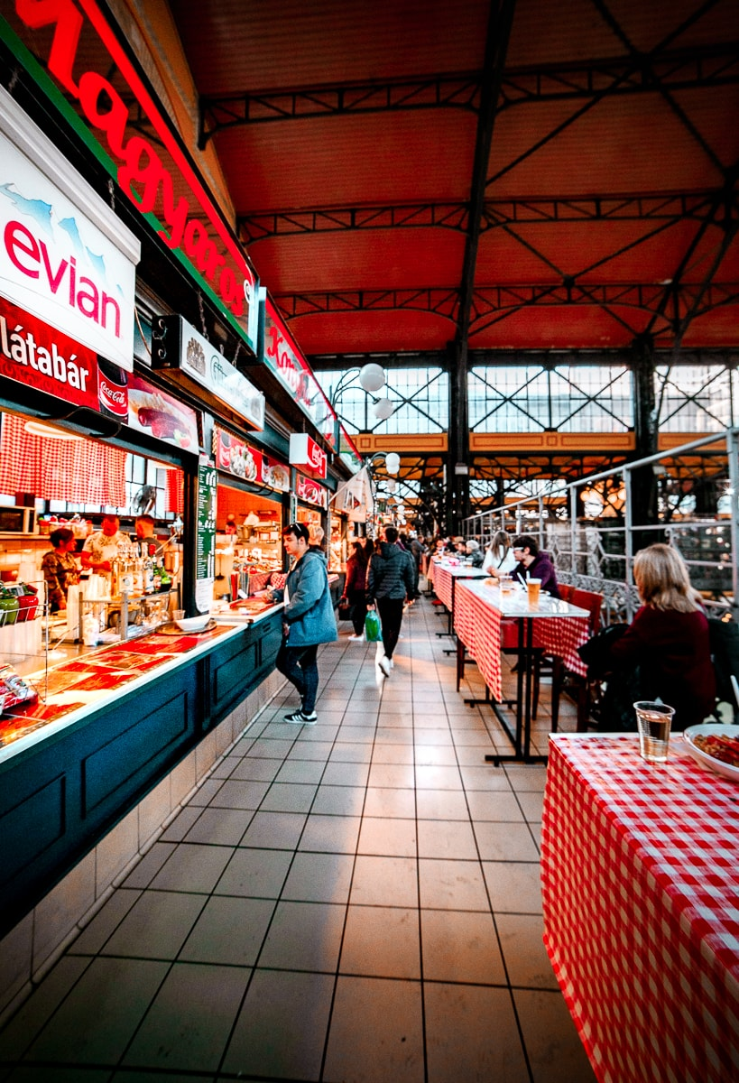 Food Stand at the Great Market Hall in Budapest