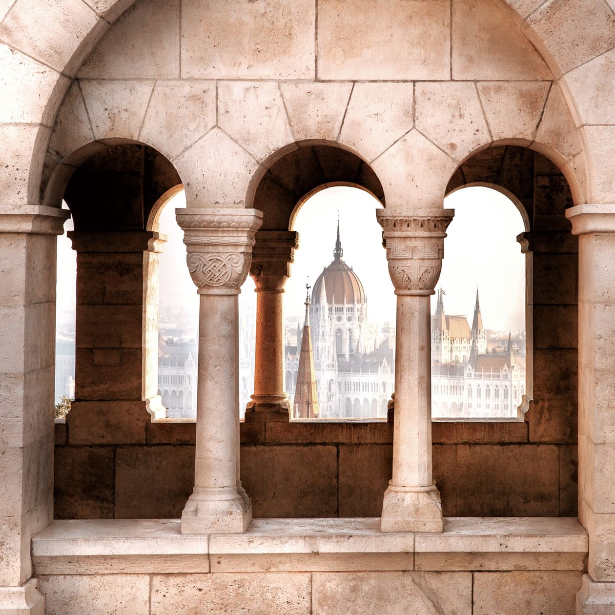 Hungarian Parliament Building from Fisherman's Bastion