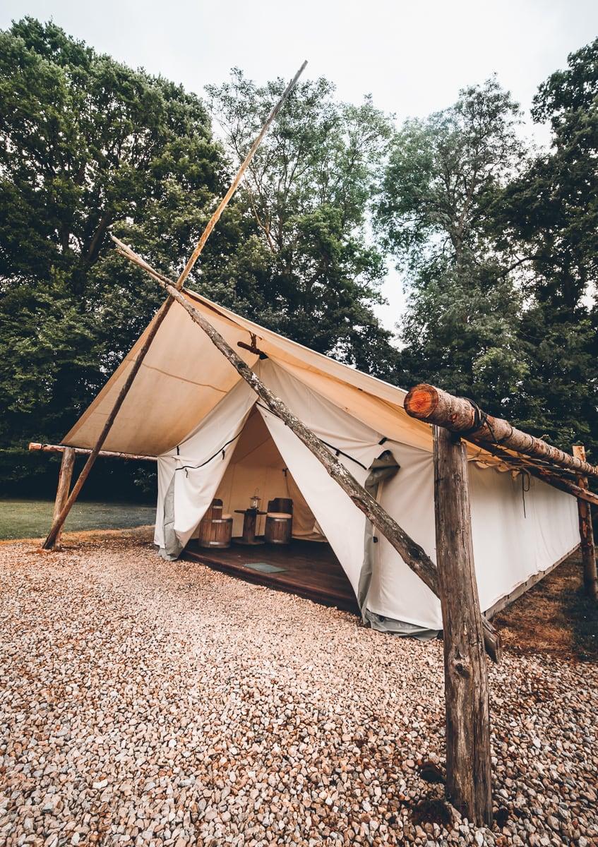 Western Tent at Domaine Arvor Campsite