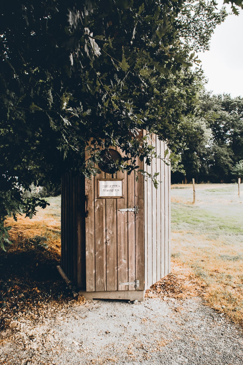 Dry Toilet at Domaine Arvor in France