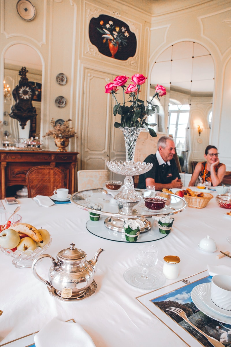 chateau de bouceel breakfast