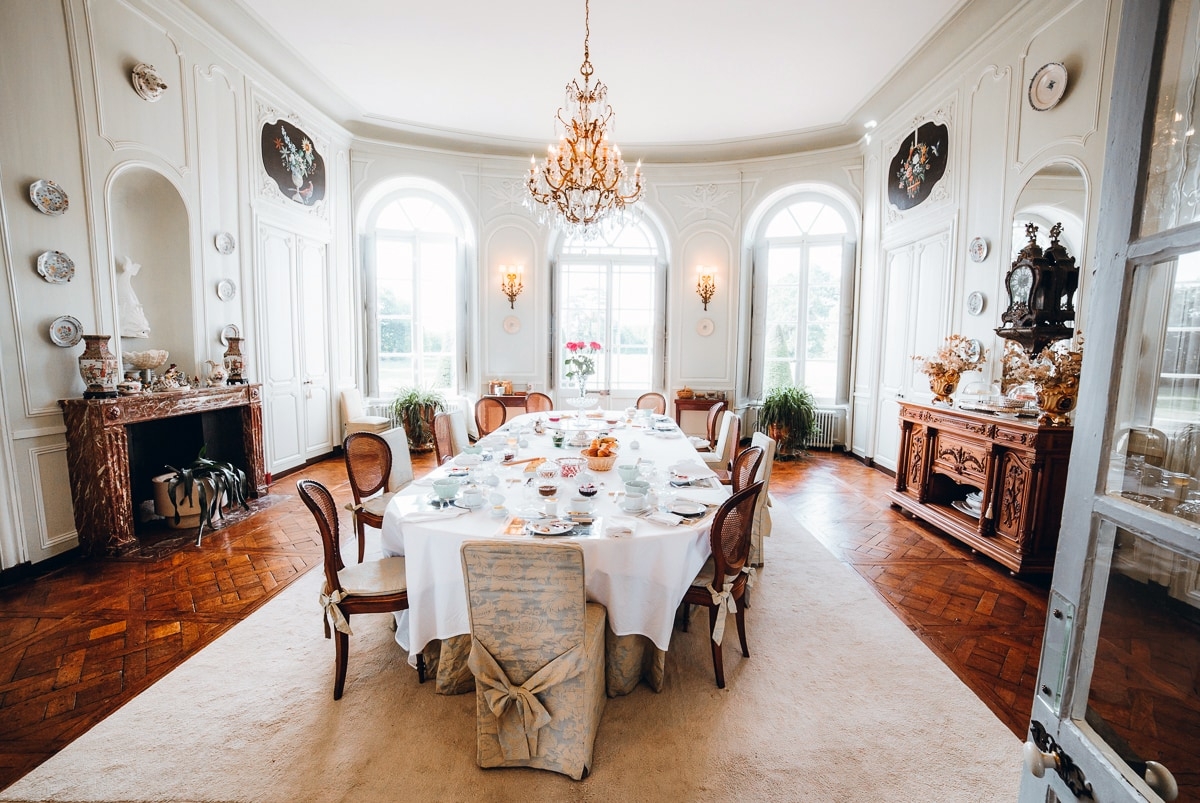 chateau de bouceel dining room