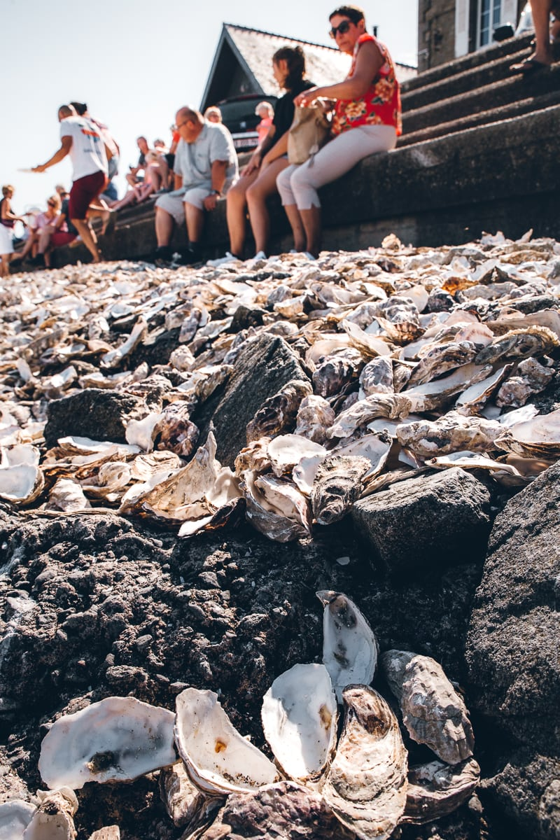 Oyster Shells in Cancale