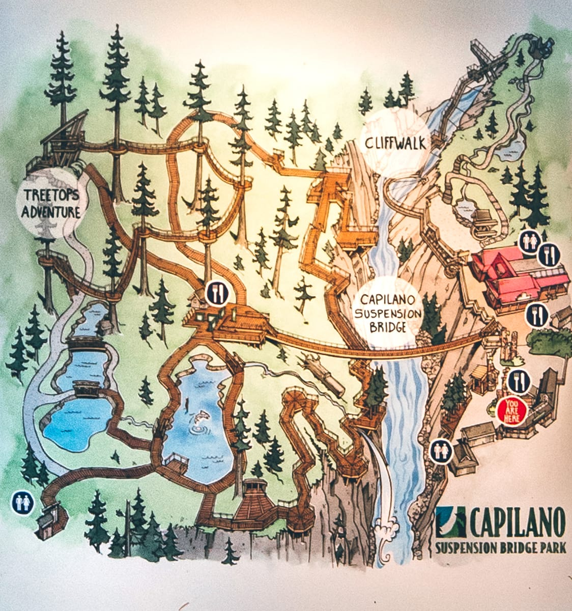 Capilano Suspension Bridge Map
