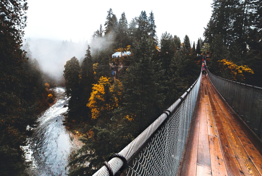 Capilano Bridge over Capilano River