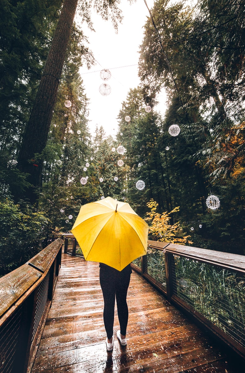 The Listel Hotel Umbrella at Capilano Suspension Bridge Park