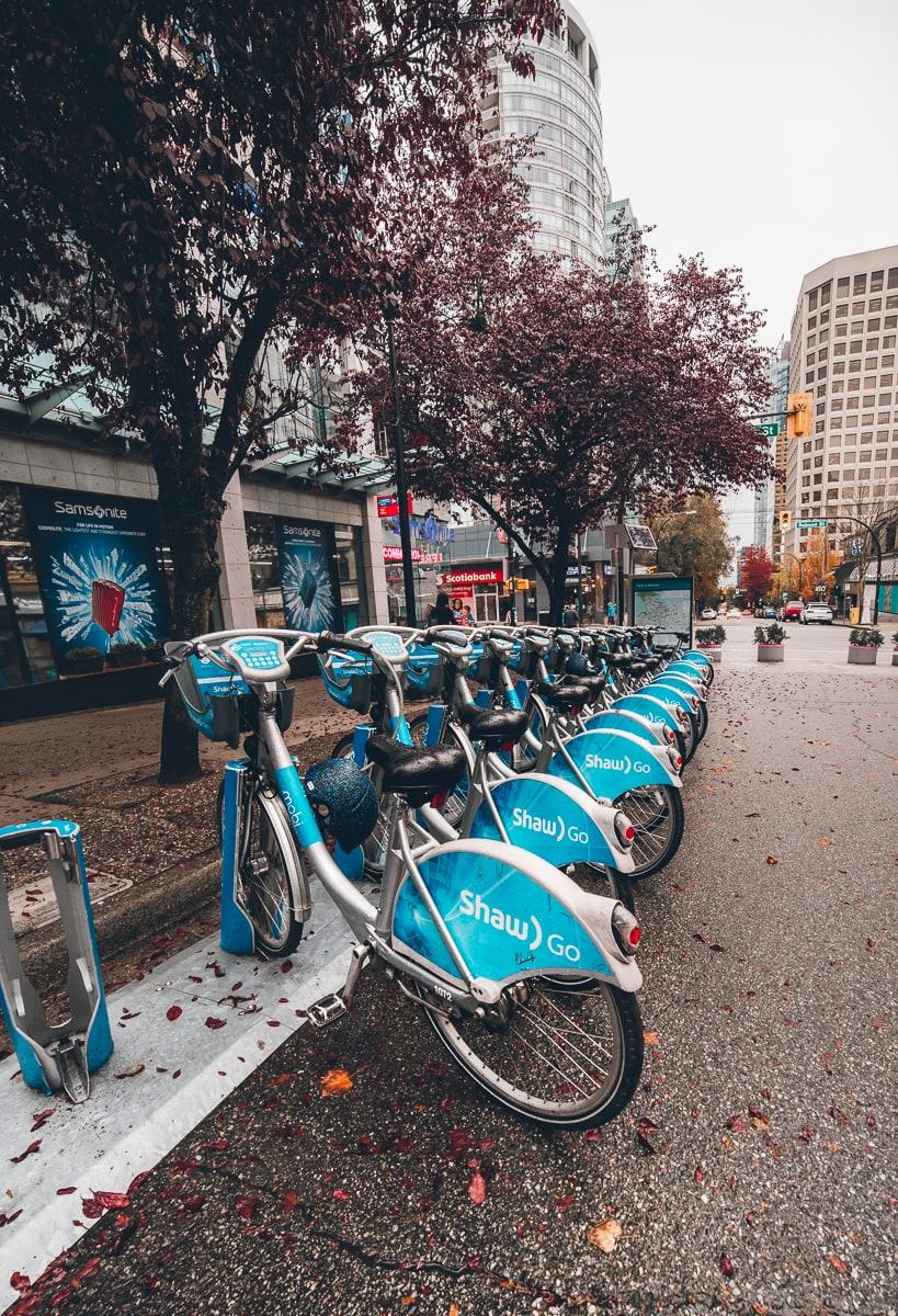 Mobi Bikes in Vancouver Canada