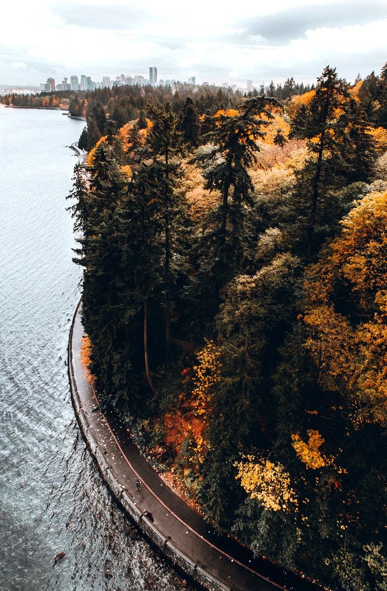 Stanley Park Seawall in Vancouver BC