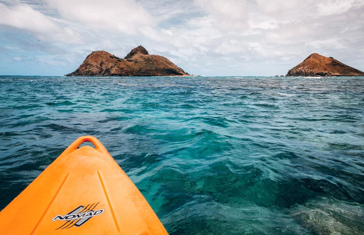 Kayaking to the Mokes