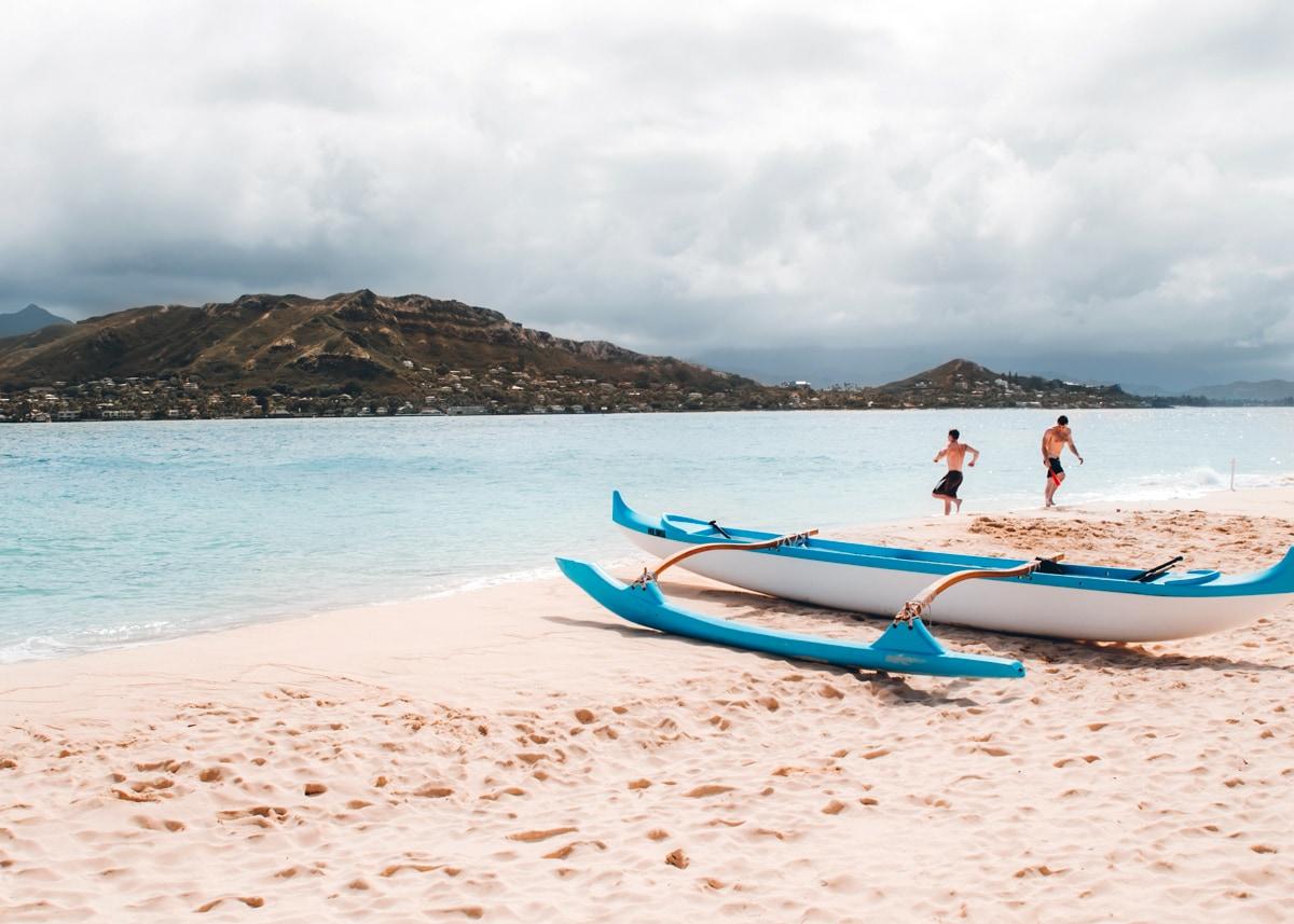 Mokoulua Islands on Oahu