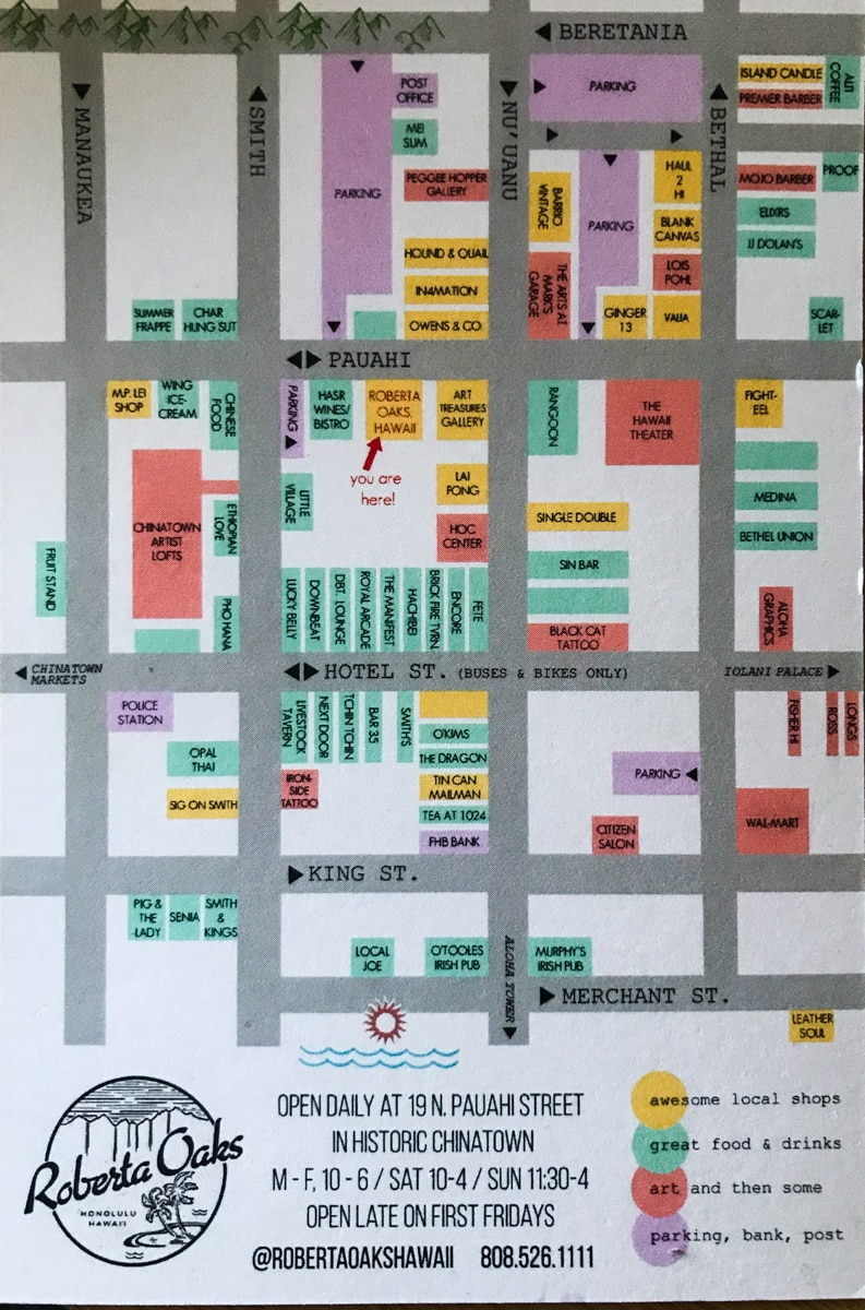 Chinatown Honolulu Map