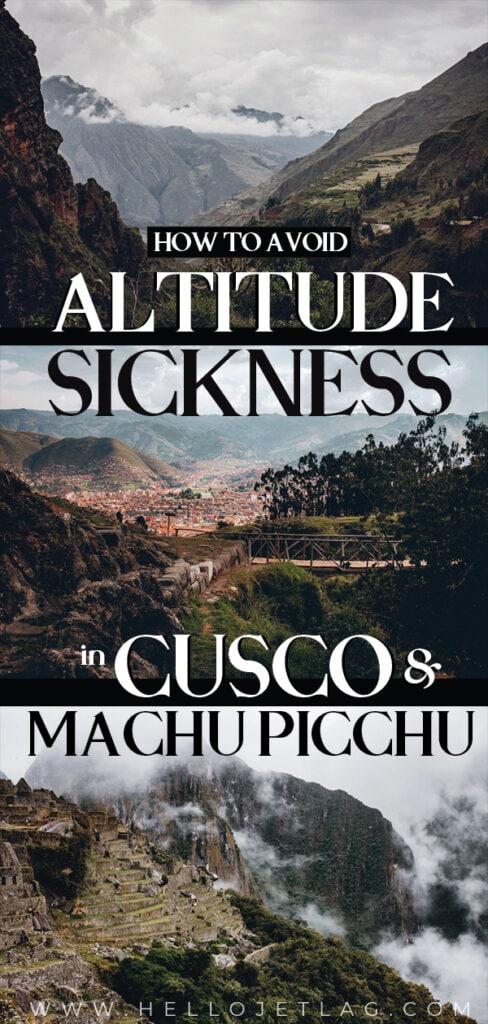 Altitude Sickness Cusco Peru