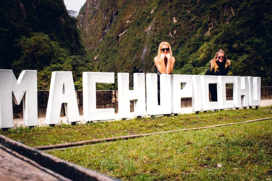 Machu Picchu Pueblo Letters in Aguas Calientes