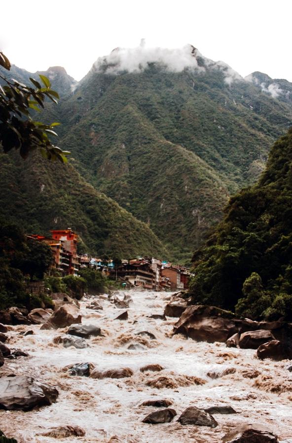 Urubamba River in Aguas Calientes