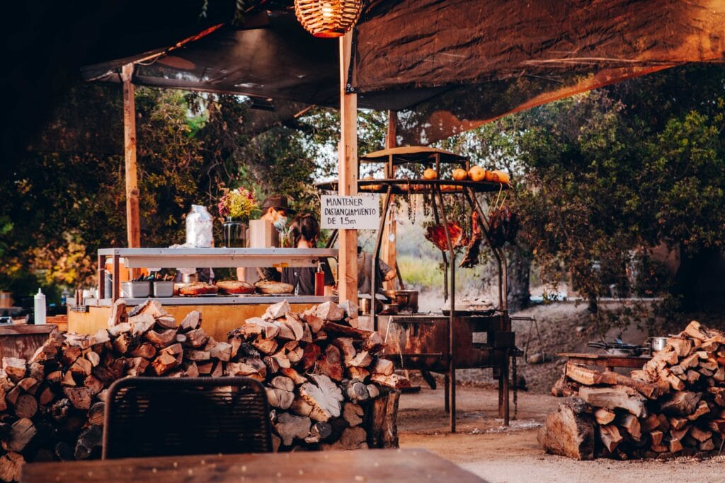 Primitivo Outdoor Restaurant in Valle de Guadalupe, Mexico