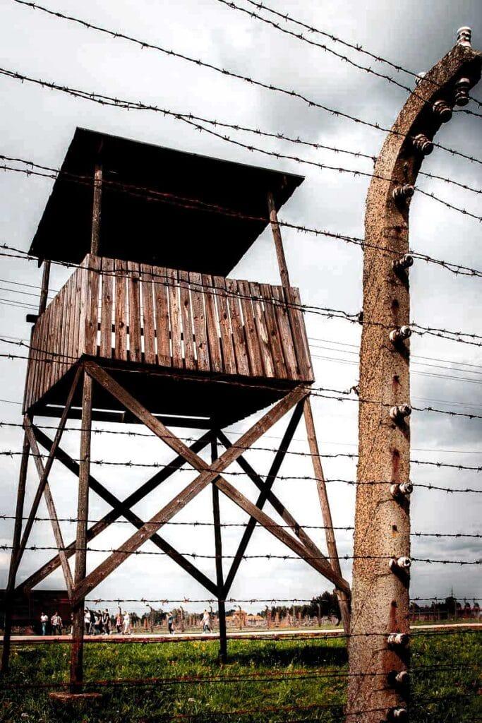 Lookout Tower at Auschwitz - Birkenau