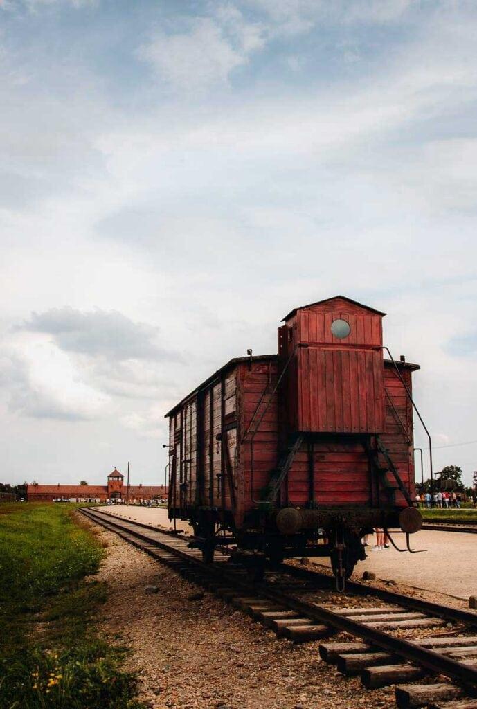 Touring Auscwitz - Train cart at Birkenau