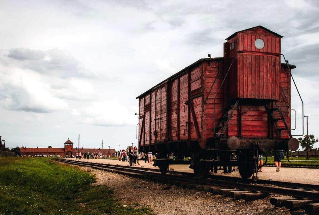 Auschwitz Train Cart at Birkenau