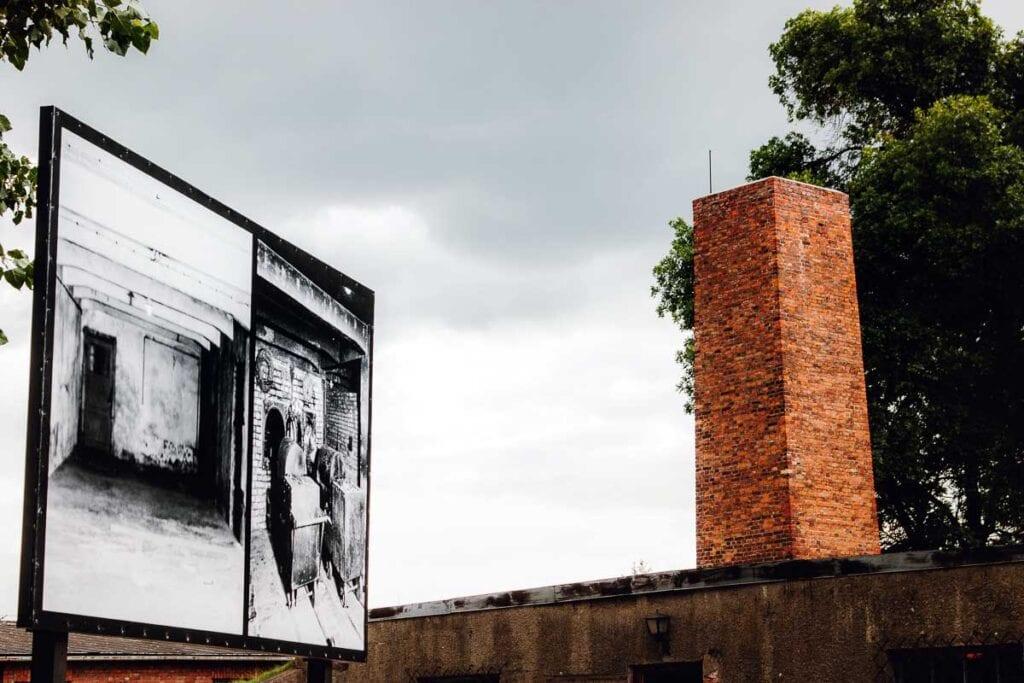 The crematoria at Auschwitz I in Poland