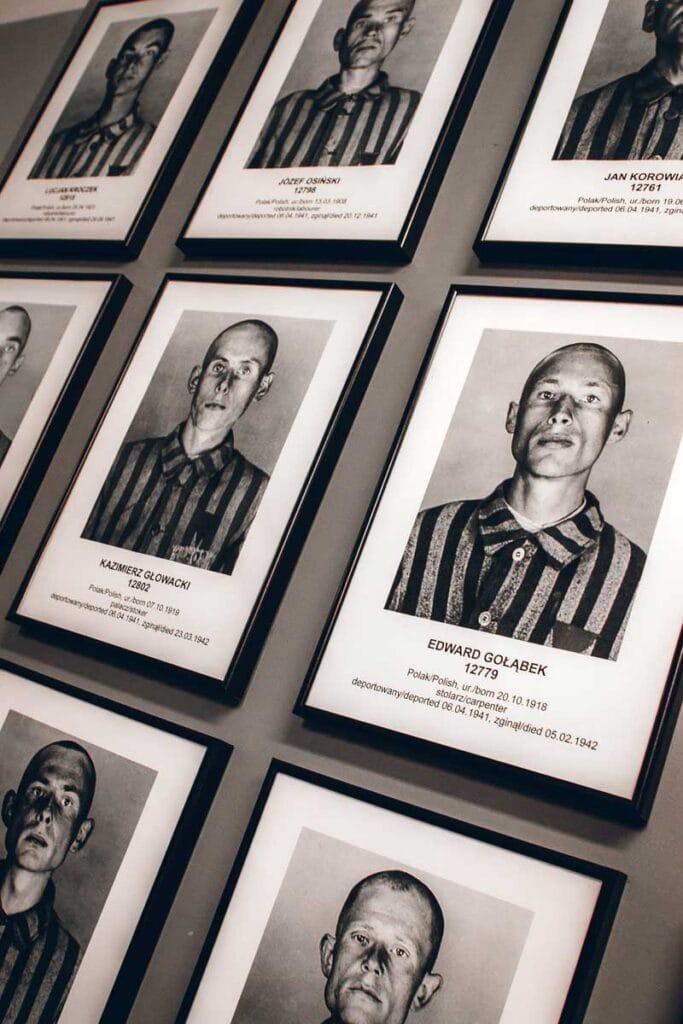 Photos of Prisoners at Auschwitz
