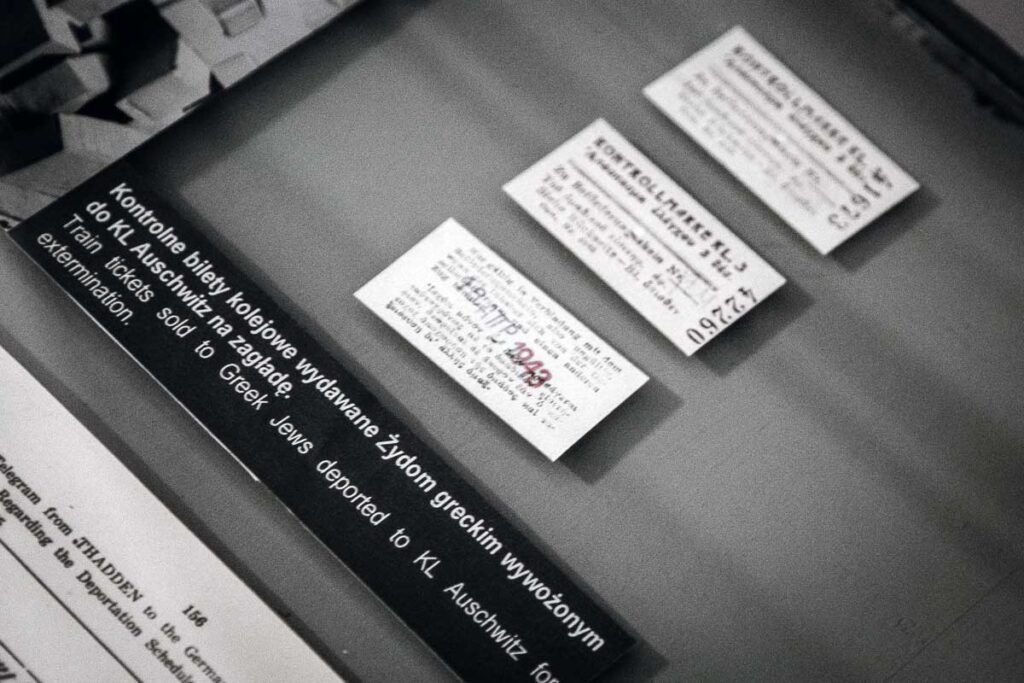Train tickets sold to Greek Jews deported to Auschwitz